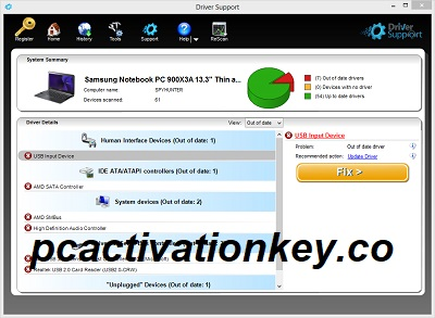 Driver Support Activation Key